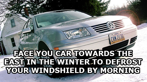 life-hack-cars-face-east-defrost-car-windshield