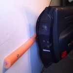 Save you car door and garage wall with a foam noodle cut in half.