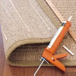 Put strips of acrylic-latex caulk on carpets to prevent slipping.