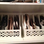 Organize your sandals with a magazine holders.